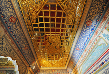 Gold ceiling in chamber