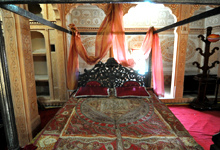 Silver crafted bed