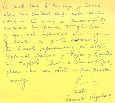 Comment by Governer of Nagaland